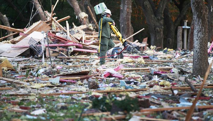 Texas explosion kills woman; infant daughter survives
