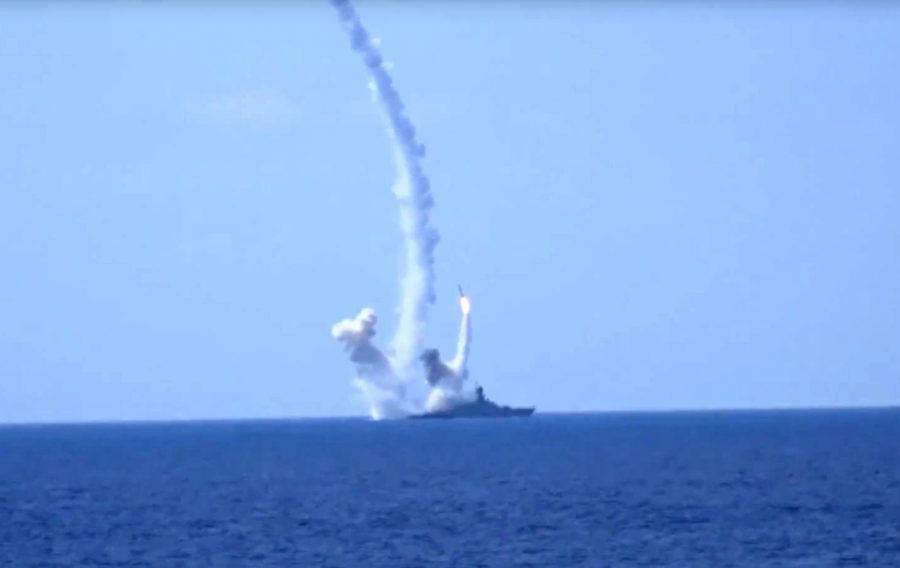 %3Cp%3EFILE-+In+this+Aug.+2016+photo+provided+by+Russian+Defense+Ministry+press+service%2C+long-range+Kalibr+cruise+missiles+are+launched+by+a+Russian+Navy+ship+in+the+eastern+Mediterranean.%3C%2Fp%3E%0A