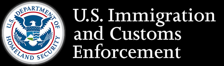 <p>Official logo for the United States department of Immigration and Customs Enforcement</p>