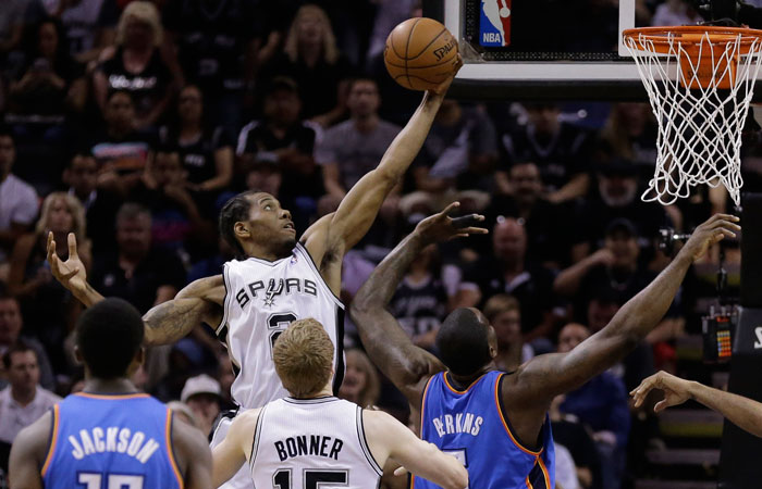 Spurs rout Thunder to take 3-2 lead in Western Conference Finals