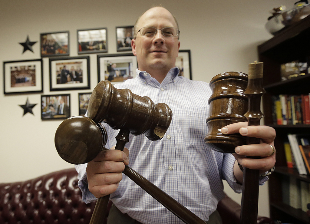 Small Texas legislation member breaks 6 walnut gavels in 5 months