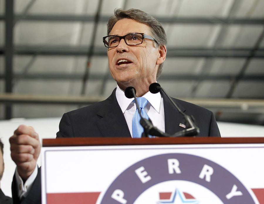 Rick Perry: The former Texas Gov. speaks to supporters to announce the launch of his presidential campaign for the 2016 elections on June 4 in Addison, Texas.