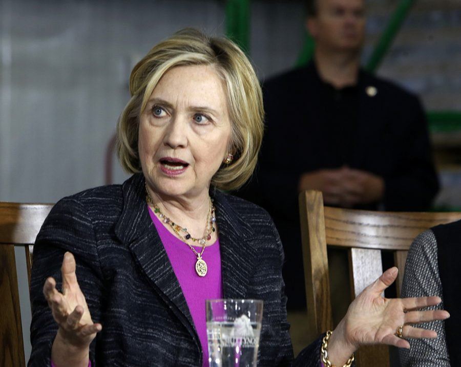 Democratic presidential candidate Hillary Rodham Clinton speaks in Hampton, NH in this file photo. (AP Photo/Jim Cole)
