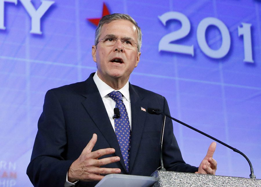 Jeb+Bush%3A+The+former+Florida+Gov.+speaks+in+Oklahoma+City.+Jeb+Bush+stepped+into+the+Republican+race+for+president+June+4.++%22I+want+to+be+the+guy+to+beat%2C%22+a+confident+Bush+said+while+campaigning+in+Florida+earlier+this+week.+%28AP+Photo%2FAlonzo+Adams%2C+File%29