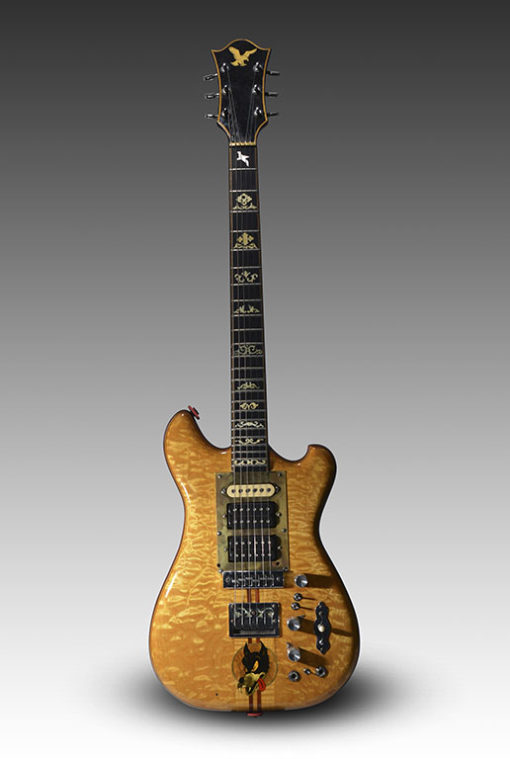 Jerry Garcia's custom-made guitar is truckin' to auction in New York City. (Guernsey's via AP)