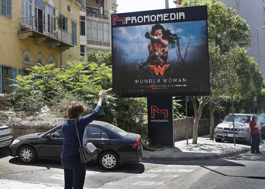 wonder woman billboard