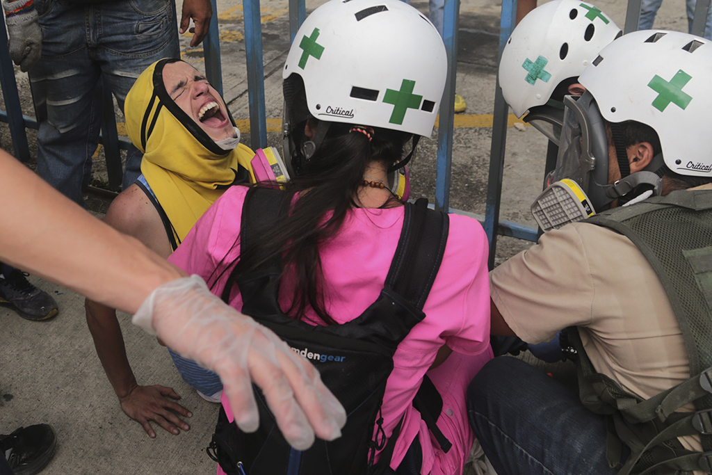 <p>In this May 3, 2017 file photo, volunteer first responders from the