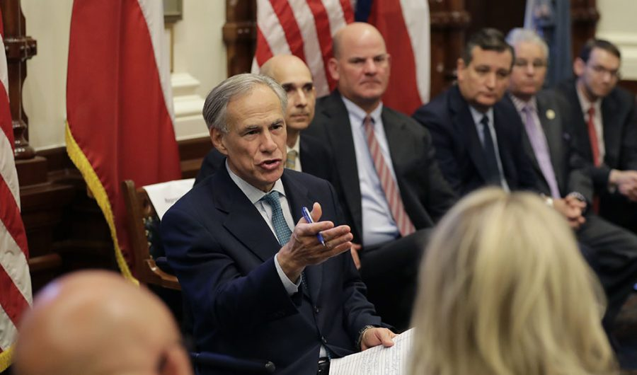 Greg Abbott at round table