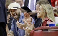 Justin Timberlake at a basketball game
