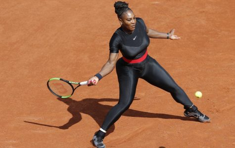 Serena Williams in black catsuit