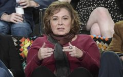 In this Jan. 8, 2018, file photo, Roseanne Barr participates in the