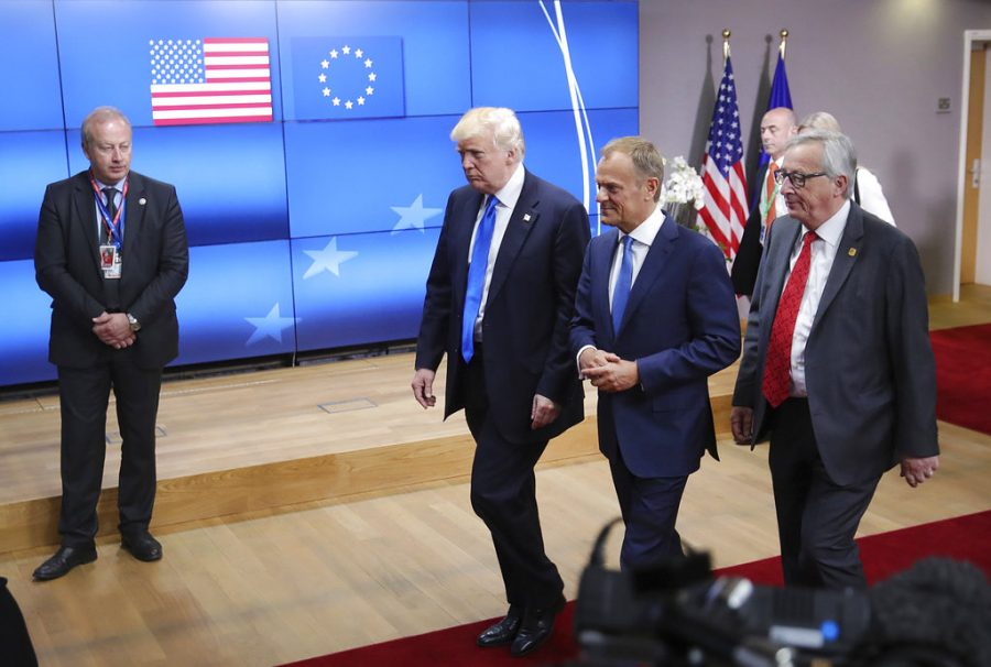Trump and European Council President Donald Tusk