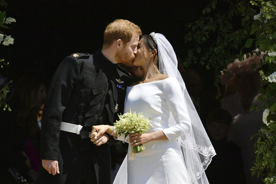 Prince+Harry+and+Meghan+Markle+leave+after+their+wedding+ceremony+at+St.+George%27s+Chapel+in+Windsor+Castle+in+Windsor%2C+near+London%2C+England%2C+Saturday%2C+May+19%2C+2018.+