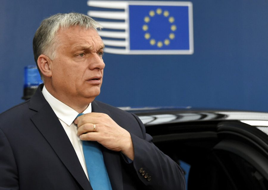 Hungarian Prime Minister Viktor Orban arrives for an EU summit in Brussels, Tuesday, May 28, 2019. European Union leaders are meeting in Brussels to haggle over who should lead the 28-nation bloc's key institutions for the next five years after weekend elections shook up Europe's political landscape.