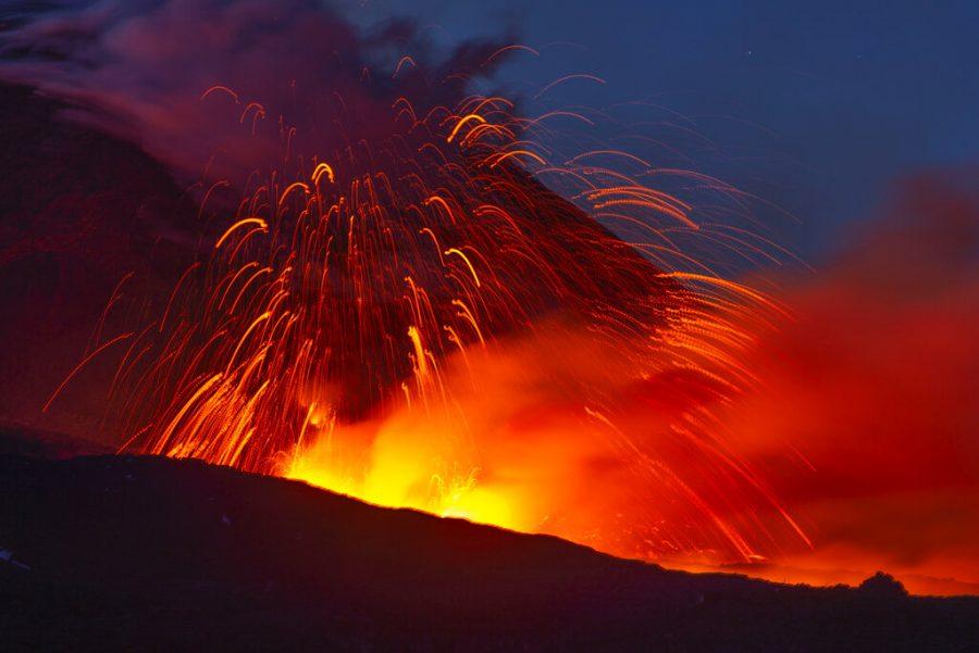 A+volcano+erupts