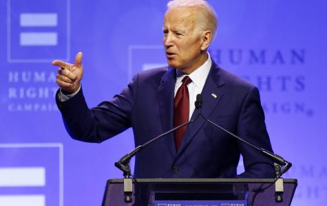 Joe Biden speaks at the Human Rights Campaign Dinner
