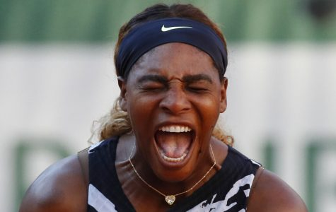 Serena Williams screams during her match