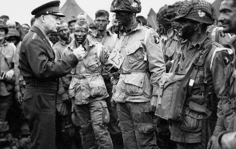 president eisenhower talking to troops