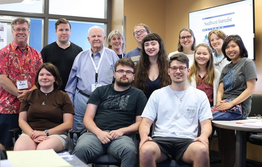 The 2019 class of Dow Jones News Fund multiplatform editing interns. The interns completed training at UT-Austin on Tuesday and will head to internships across the country.