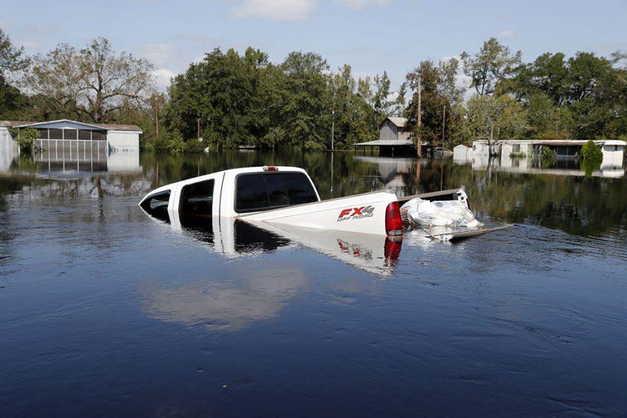truck under water