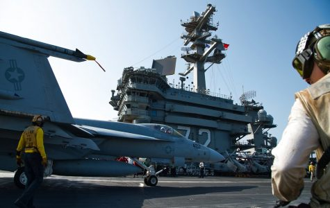 PHOTO GALLERY: US aircraft carrier deployed over Iran remains outside Gulf