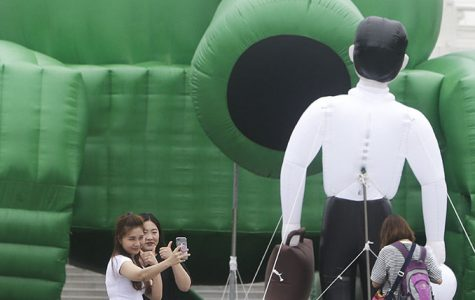 Inflatable 'Tank Man' in Taiwan marks Tiananmen protests