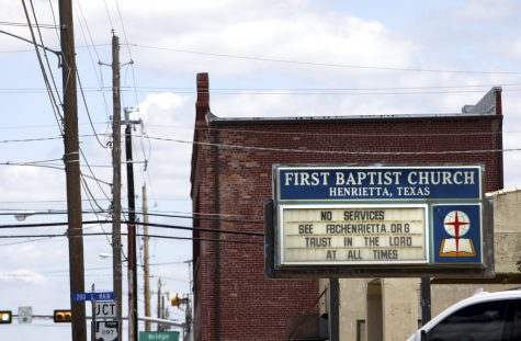 A sign for a church in Clay County