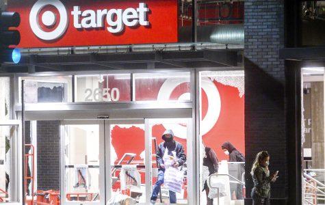 People looting a Target store