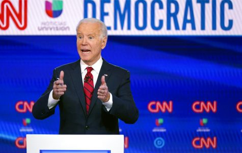 Joe Biden speaks at a presidential debate.