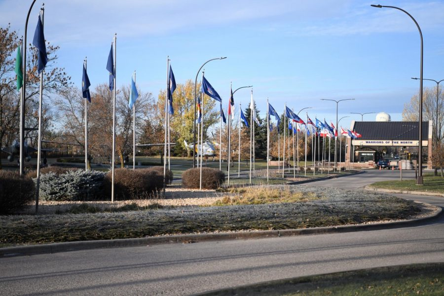 flags and entrance