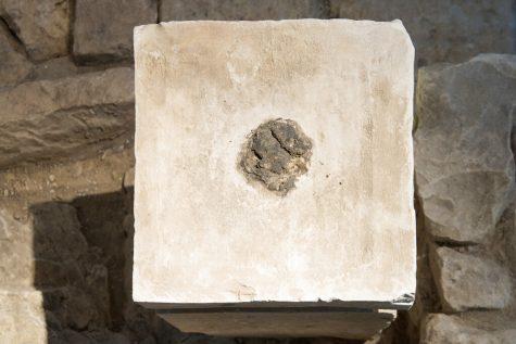 Photo of eighth-century B.C. shrine in Israel