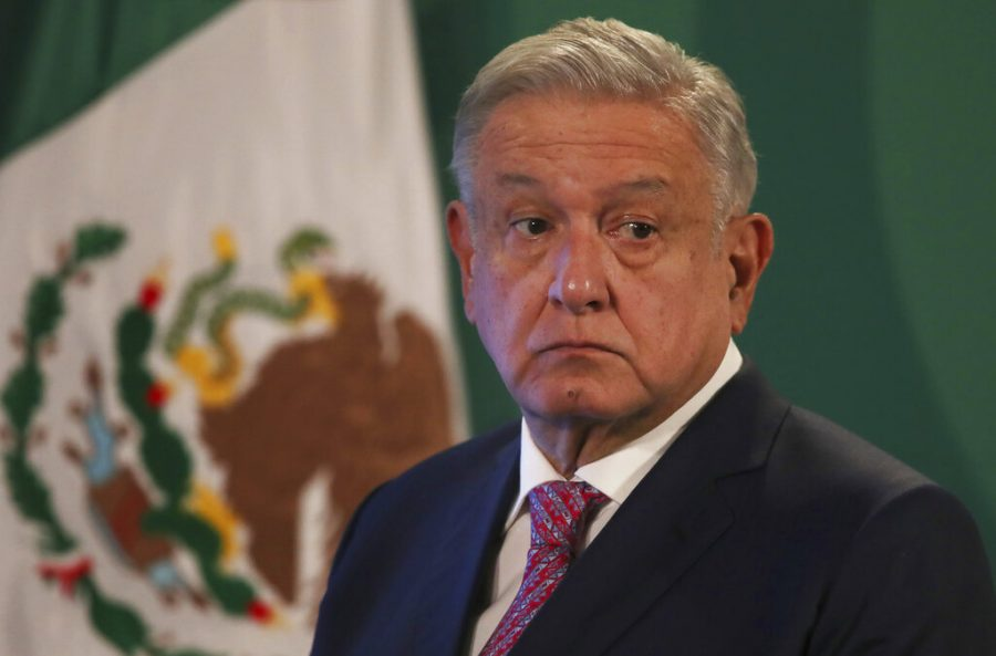 Mexican President Andres Manuel López Obrador gives his daily morning press conference on Feb. 8.