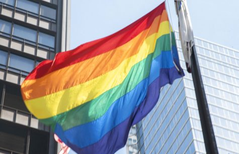 A rainbow flag is raised in Daley Plaza on June 1 to mark the beginning of Pride Month in Chicago.